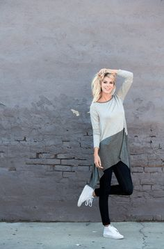 It's a good week to have a good week. Happy Monday! Model @abbyplunk wearing our  Two Tone Jersey Tunic Photo: @eslee