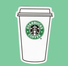 Starbucks Crafts, Starbucks Art, Starbucks Birthday, Bullet Journal Art, Bullet Journal Ideas Pages, Printable Stickers, Cute Stickers, Starbucks Cup Drawing, Aesthetic Stickers