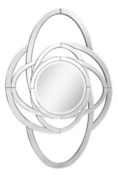 The Carmine Mirror features a dazzling rounded border with a circular center bevelled mirror.
