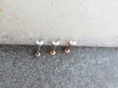 Leaf Piercing/Tragus Earring/Cartilage earring /Tragus stud /Tragus Piercing /CZ piercing/Barbell/Labret bar optional /CZ Stud Piercing