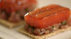 Tuna carpaccio with caramelised watermelon