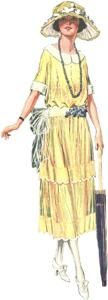 Delineator May, 1921 - Bonnie's dress her first Sunday at St. Dunstan's would have been a modern, 1960s version of this.