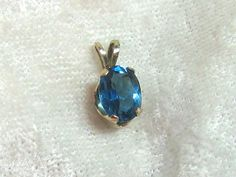 AAA Blue Topaz Pendant Necklace by jewelrybypatterson