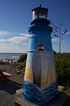 Painted Lighthouse, | Two Lights State Park, Cape Elizabeth, Maine |Sarah Oliver | Flickr