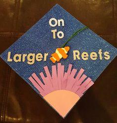 marine biology graduation cap shellfish fish flowers pun
