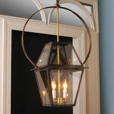 Richmond Hanging Lantern with Circle Bracket - $595. Totes out of my price range. But LOVE it!