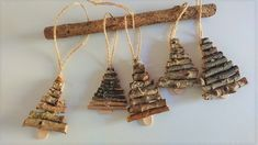 Christmas decorations for Christmas tree 5 pieces Homemade Christmas Tree, Natural Christmas, Christmas Ornaments To Make, Christmas Wood, Simple Christmas, Handmade Christmas, Twig Crafts, Christmas Crafts, Christmas Stuff