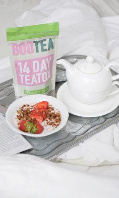 BooTea + granola and yogurt with some fresh strawberries = tasty and healthy breakfast.