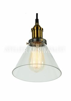 Glass Funnel Filament Pendant Material: Clear glass Pendant size: Diameter: Height: Save off with the purchase of Bulb not include (se Glass Pendants, Clear Glass, Light Bulb, Ceiling Lights, Rustic, Lighting, Home Decor, Country Primitive, Decoration Home