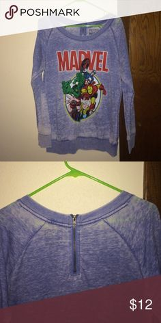 Oversized Marvel Avengers sweater Light thin fabric, zipper on the back. Vintage wash. great condition. open to offers! hulk captain america thor iron man Marvel Sweaters Crew & Scoop Necks