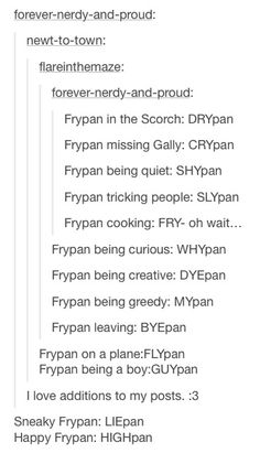 I love it because Gally and Frypan is one of the ships in the Glade since they are close