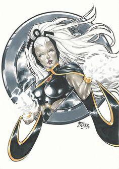 Storm Ororo Munroe (X-Men) by Fred Benes Storm Xmen, Storm Marvel, Marvel X, Marvel Women, Marvel Girls, Comics Girls, Comic Book Characters, Comic Books Art, Comic Art