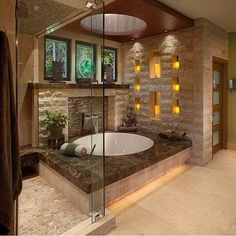 Loving this calming space for a spa feel!