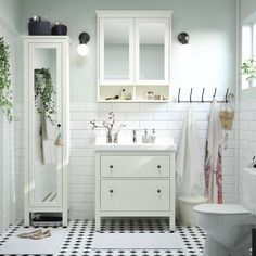 HEMNES, HEMNES, HEMNES bathroom More IKEA bathrooms: https://en.ikea-club.org/category/bathrooms-ikea-interiors.html