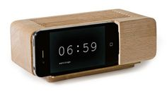 Just What We Needed Dept: Wooden iPhone Dock Turns Phone Into Retro Alarm Clock : TreeHugger