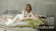 Through the ages, Odalisques have been celebrated by artists such as Ingres, Matisse and Renoir. Now today, Grazia'Lliani gives her modern day Odalisques luxurious warm and soft micromodal fabric with finished with transparent silk trim. Register now & download the new catalogues for free: grazialliani-shop... #Grazialliani #Loungewear #Sleepwear #Lingerie #Outerwear #Madeinitaly