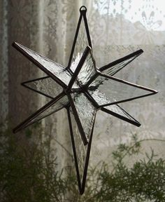 "glass star of bethlehem | Stained glass star - 5"" Bethlehem Star, 12 point on Etsy, $18.00 Stained Glass Ornaments, Stained Glass Birds, Stained Glass Christmas, Stained Glass Designs, Stained Glass Projects, Stained Glass Patterns, Stained Glass Windows, Glass Glue, Clear Glue"