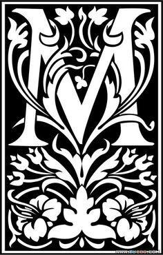 Striking black and white M