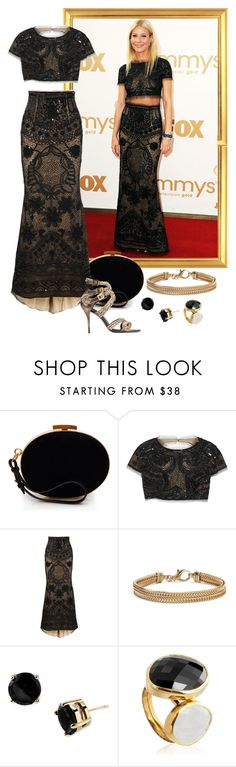 """""""Gwyneth Paltrow – 2011 Emmy Awards."""" by foreverforbiddenromancefashion ❤ liked on Polyvore featuring Gwyneth Shoes, Nina Ricci, Emilio Pucci, Roger Vivier, Blue Nile, Kate Spade and Monica Vinader"""