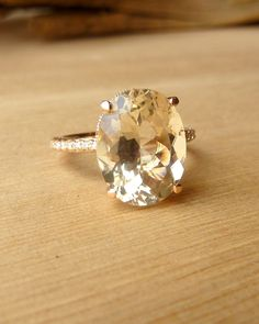 Oregon Sunstone and Diamond Ring.