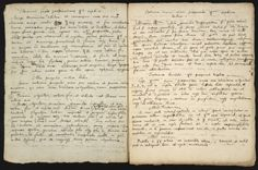 Two pages of instructions for making philosophic mercury, hand-copied by Isaac Newton.