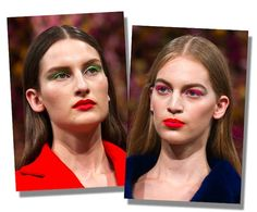 Amazing colours at Dior Couture ....Beautyfull usage of coloured lashes!