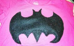 Superhero Literacy day at school tomorrow.... But...OH NO! Your sparkly pink princess doesn't own any superhero shirts?!?! Sparkly black felt, an old t-shirt and a run through the sewing machine and VOILA!!!!