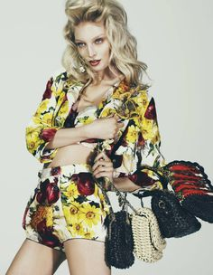Melissa Tammerijn by Andrew Yee for How to Spend It. Dolce and Gabbana