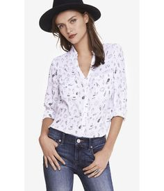 I found a Special Deal on EXPRESS Womens Vacation Print Portofino Shirt I'm in! Are you See: http://www.imin.com/store-coupons/Express