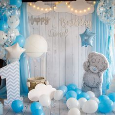 Trendy Baby Shower Decorations For Girls Decor Ideas Baby Boy Birthday Cake, Baby Girl Cakes, Cake Baby, Cake Girls, Birthday Boys, Baby Boy Shower, Baby Shower Parties, Deco Ballon, Its A Boy Balloons