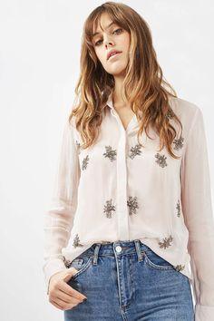 Sequin Embellished Bug Shirt