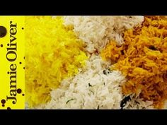 How to cook perfect fluffy rice - Jamie Oliver - video Easy Rice Recipes, Fish Recipes, Beef Recipes, Cooking Recipes, Cooking Videos, Cooking Tips, Recipies, Cooking Classes, Jamie Oliver