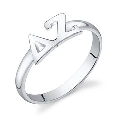 Sterling Silver DELTA ZETA Ring $28.00  I really really like this!