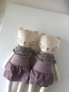 luckyjuju kitty girl series no. 4 by luckyjuju on Etsy
