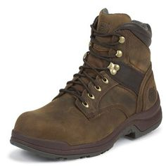 "Justin Men's 6"" Lace-R Aluminum Toe Work Boots"