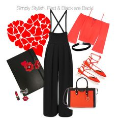 """""""simply stylish. red and black are back!"""" by catrina-lang on Polyvore featuring Aquazzura, Marc by Marc Jacobs, Bebe, Miss Selfridge and Henri Bendel"""