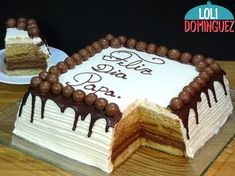 Chocolate Cake Designs, Chocolate Desserts, Spanish Desserts, Fathers Day Cake, Pound Cake, No Bake Cake, Cupcake Cakes, Cake Decorating, Sweets