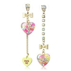 Betsey Johnson Heart Candy Boost Earrings. Fall Fashion Outfits for Teens