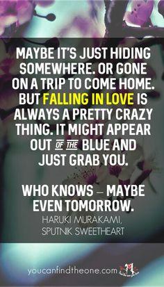 Nice quote from my favorite writer.  youcanfindtheone.com  #relationship #love #fallinginlove #truelove #quotes #harukimurakami #haruki #book #bookquotes #daniellezhao #smartsolo #romantic #romanticquotes