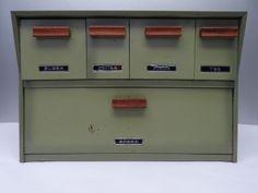 Vintage Used 1970s Krestline Metal Wood Handled Green Kitchen Storage Bread Box