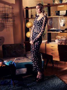 Veronika Vilim by David Burton for Elle UK May 2015 - Dolce&Gabbana Spring 2015