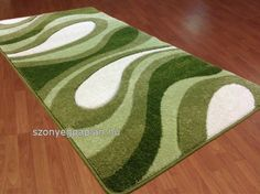 Modern zöld hullám szőnyeg 160x220 cm
