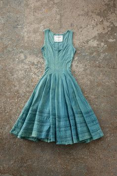 This one of a kind indigo flared dress is made of 100 medium weight