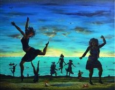 Peter Rodulfo  on the day the widows danced the sailors all came home  71x63cm…