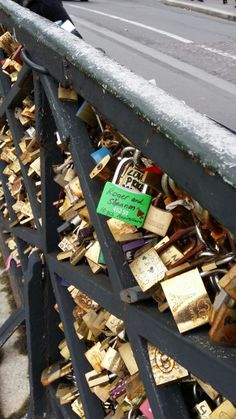 Put our lock on Love bridge