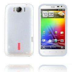 InCover (Hvit Gjennomsiktig) HTC Sensation XL Deksel Cases, Iphone