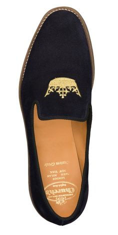 Church's Hirst loafer in blue suede availible from the Burlington arcade store for £280 http://www.burlington-arcade.co.uk/shops/churchs/