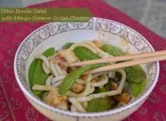Texas Girl Kitchen: Leftovers {Udon Noodle Salad with Mango-Sesame Grilled Chicken}