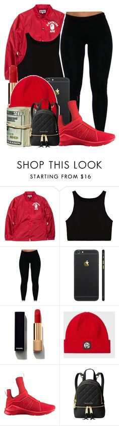 """""""Untitled #956"""" by kaja-bear ❤ liked on Polyvore featuring A BATHING APE, Chanel, Paul Smith, Puma and Michael Kors"""