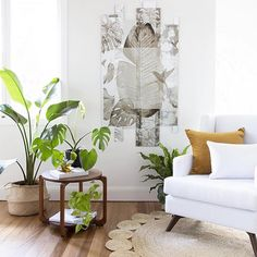 Beautifully styled shot by .clean, airy plantation color palette with our topaz velvet nestled on a crisp white sofa. White Sofas, Interior Decorating, Interior Design, Nautical Home, Interior Stylist, Tropical Decor, Beautiful Soul, Home Living Room, Boho Decor